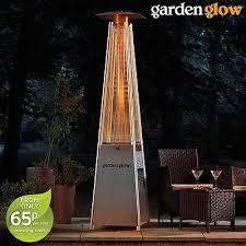 garden glow 13kw square flame gas patio