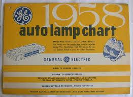 Ge 1958 Auto Lamp Chart