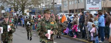 Young Marines in Springfield Christmas Parade 2013
