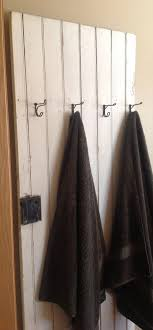 old farm house door towel rack