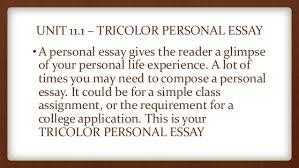 th grade engish tri color essay