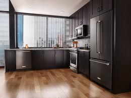 Rectangular Kitchen Tiles Black Kitchen Appliances White Cabinets Grey Blue Herringbone