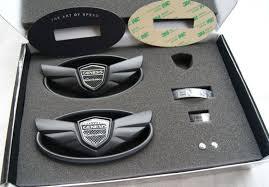 black hyundai genesis logo. the art of speed genesis coupe wing emblem set matte black hyundai logo h