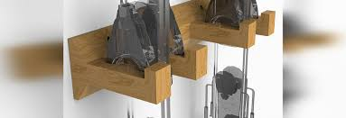 horizons wall mounted ski rack