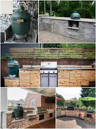 charcoal grill big green egg outdoor kitchen essentials