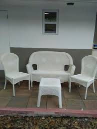hampton bay white wicker patio furniture