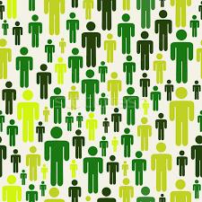 People Pattern Beauteous Go Green Social Media People Pattern Vector Illustration © Cienpies