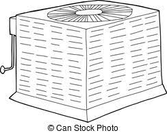 central air conditioner clipart.  Air Outlined Central Air Conditioner In Clipart