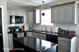 kitchen design white cabinets black appliances. Kitchens With Black Countertops Small L Shaped Kitchen Design Light Grey Cabinets Using And White Appliances