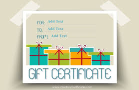 a gift certificate template with presents