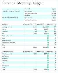 Numbers Monthly Budget Template