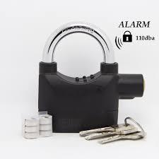 original kinbar siren alarm padlock for door motor bike car house pad