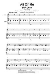 all of me sheet music piano easy download all of me john legend violin piano sheet music by