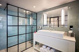 black grid style 1400mm walk in wetroom shower screen by drench