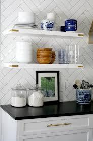 styling open kitchen shelving