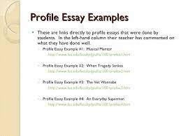 examples of profile essays profile essays examples essay on  examples of profile essays profile essays examples essay on military draft essay sample com