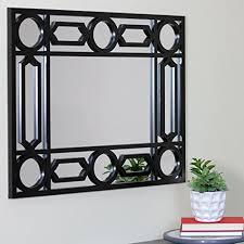 29 5 geometric openwork matte black decorative rectangular wall mirror b071jq5rzv