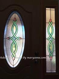 door beveled sidelight privacy decorative window