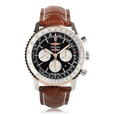mens breitling watches the watch gallery breitling navitimer 01 46mm automatic steel rose gold mens watch ub012721 be18