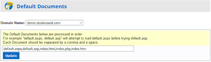 Setting your website default document - HostControl - Knowledge Base ...