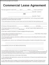 Business Property Rental Agreement Template Lease For Commercial
