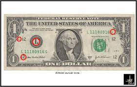 dollar bill imaginary zebra