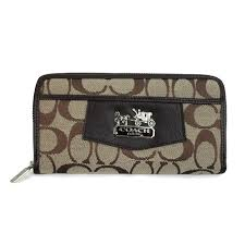 Coach Logo Signature Large Brown Wallets EEU