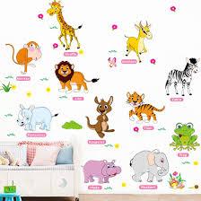 Jungle Adventure Dieren Muurstickers Voor Kids Nursery Kamers Baby