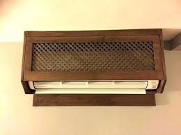 ac unit cover exterior wall covers thru the sleeve petite kitchen winning heater explore and