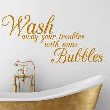 Bath Quotes Inspiration BATHROOM QUOTE Wash Bath Interior Wall Sticker Decal Wallart