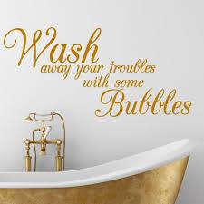 Bath Quotes Inspiration BATHROOM QUOTE Wash Bath Interior Wall Sticker Decal Wallart