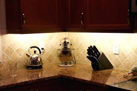 full image for minimalist kitchen ideas recessed style counter lights black wooden knife holder brown marble