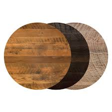 54 round reclaimed barn wood restaurant table top