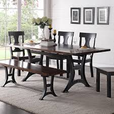 industrial dining furniture. Crown Mark Astor Industrial Dining Table With Trestle Base And Rustic Top Industrial Dining Furniture