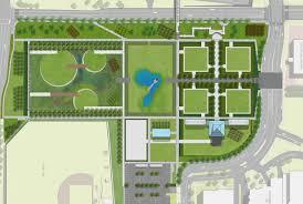 the new environmentally friendly design for the sculpture garden