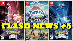 Flash News #5 - RELEASE DATES for Pokémon Legends and BDSP + Pokémon HOME  Update! - YouTube