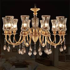 10 light glass shade brass and crystal chandelier brass chandelier with shades
