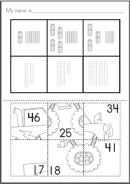 Place Value Puzzle Pastes - Cut & Paste Worksheets - Numbers to 50 ...