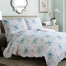 Aqua Bedding Comforter Sets and Quilts Sale – Ease Bedding with Style & Bedsure Printed Quilt Set with Shams - Hypoallergenic and Lightweight  Tangier, Blue Aqua, Full Adamdwight.com