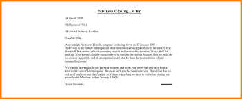 business closing letter business closing letter gallery words form letters