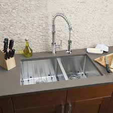 costco kitchen sink. Hahn Extra-large 60/40 Sink And Stainless-steel Commercial Faucet Combo Costco Kitchen H