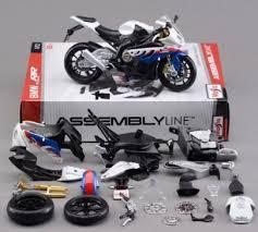 bmw s 1000 rr die cast model motorbike kit by maisto scale 1 12