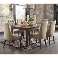 dining room table and fabric chairs. Dining Room Sets With Fabric Chairs Upholstered Walton Round Set W Table And S