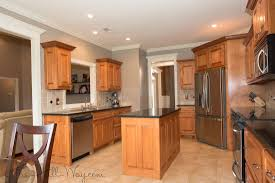image gallery of interesting design kitchen paint colors with maple cabinets example of honey maple cabinets with benjamin moore revere pewter