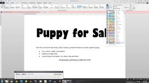 microsoft 2013 essential word lab 1 puppy flyer microsoft 2013 essential word lab 1 puppy flyer