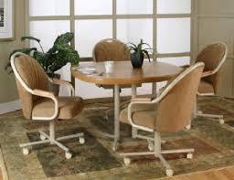 swivel tilt dining chairs on casters swivel dining dinette chairs on casters and table set b42sr jpg