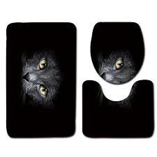 black bathroom mat set cat pattern anti slip bath mat soft foam bathroom rug modern toilet mat sets uk 2019 from zhanshen001 gbp 14 71 dhgate uk