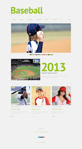 Baseball Websites Templates Website Template 49511 Baseball Portal Sport Custom Website
