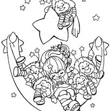 Small Picture Rainbow Brite and Friends are Sleeping Coloring Page Color Luna