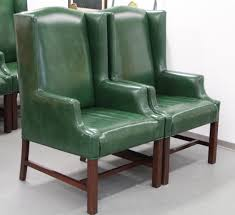 Leather Wingback Chair For Sale Found In Ithaca Leather Wingback Chairs Sold